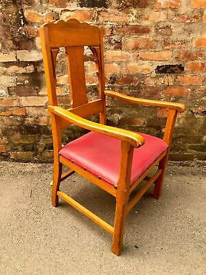 Antiques Timber Church Chairs Dining Clergy Vintage Carver Retro Oak Bishops