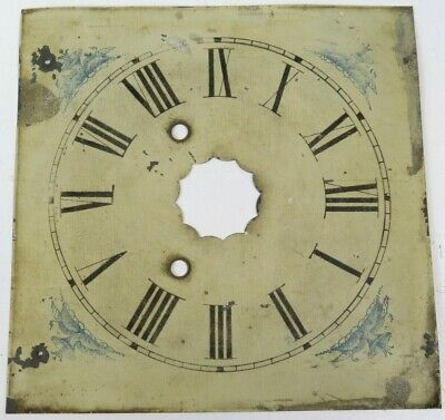 Antique Clock Face Dial Old Tin Salvage Morning Glory Detail Beautiful Old Piece