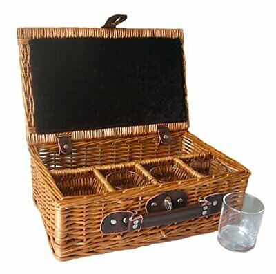 Whiskey Drinks Basket and Glasses