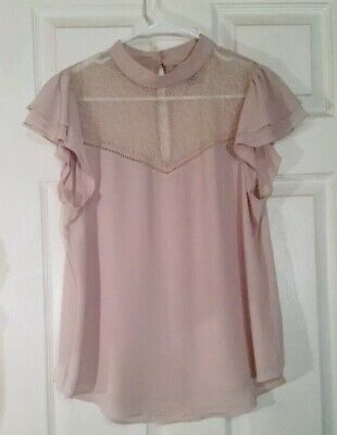 EllieJames Shirt Dress Nude Blush Pink Terracotta Blouse Tunic Long Top 233