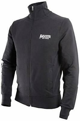BOXEUR DES RUES Mens BXT-4476 Full Zip Sweatshirt, Black, M