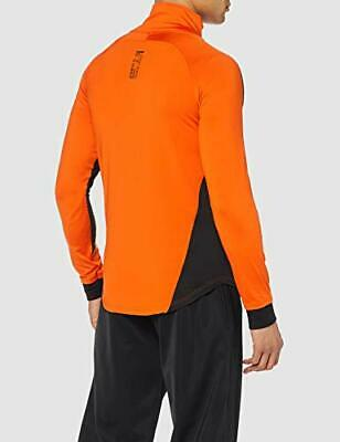 BOXEUR DES RUES Mens High Collar Fitted Sweatshirt, Orange, Small