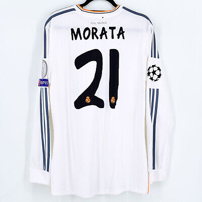 2013-14 Real Madrid Home Shirt Player Issue #21 MORATA Final CL Formotion (Ve...