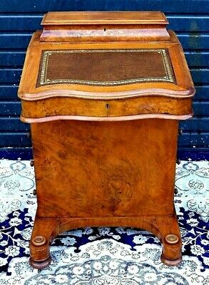 Superb Quality Victorian Burr Walnut Inlaid Davenport Desk For A Nhs Nurses Fund