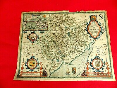 Genuine 1610 Edition John Speed Map Of Monmouth For Nhs Nurses Support Fund