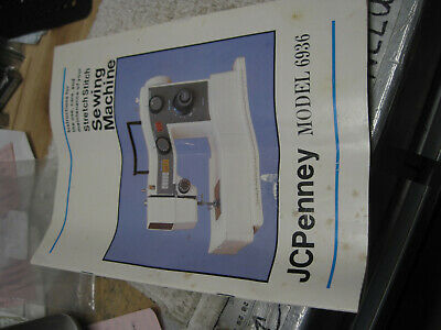 J.C. Penney 6936 Sewing Machine Instruction Users Manual Guide JC Penny