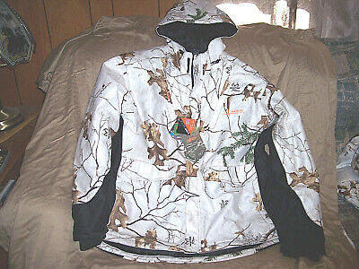 Mens XL Snow Camo Jacket Insulated Hunting Parka Scent Factor Waterproof Coat XL