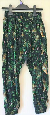 New Harem Trousers Girls - Exstore Matalan - Jungle Tiger Design Ages 2-7 Years