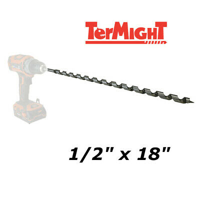 Wood Auger Bit 3//4 x 17 Carbon Steel TerMight Stock # TM-T1005 New
