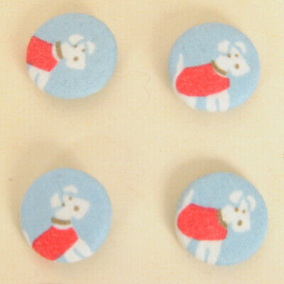 Fabric Covered Buttons on 2cm metal shell Cath Kidston Bright Pop Pink