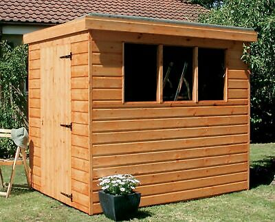 Garden Shed Tongue & Groove Pent Full Heavy Duty Wood Including Roof & Floor
