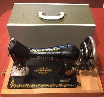 Vintage Manual Singer Sewing Machine Y Prefix No.99 with Case VGC