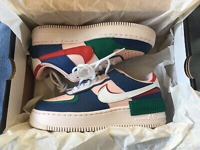 Authentic Nike Air Force 1 Shadow Mystic Navy White Pink UK 6 CI0919-400 Womens