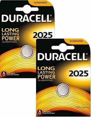 2X Duracell Cr2025 Dl2025 Br2025 3V Lithium Coin Cell Button Batteries Free P&P