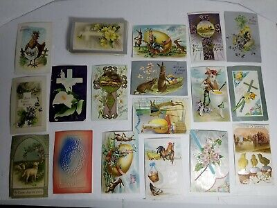 Vintage Post Cards Postcard Lot Early 1900's Post Marked Stamped Easter Holiday