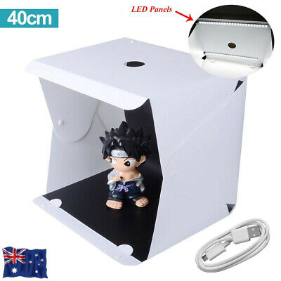 40CM Light Foldable Photo Studio Portable Mini Photography Box Led Kit Tent Cube
