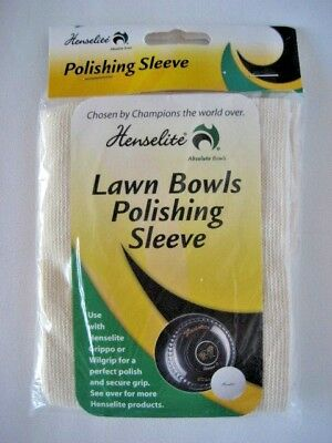 All New: Henselite Lawn Bowls Polishing Sleeve. FREE SHIPPING!