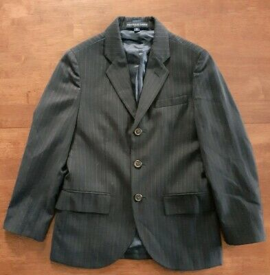 Polo Ralph Lauren Boys Sport Coat Blazer Jacket 10 Regular Navy Blue Pinstripe