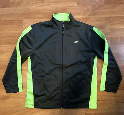 New Balance Athletic Zip Jacket Gray/Green Youth Size XL 18-20 Running Sports