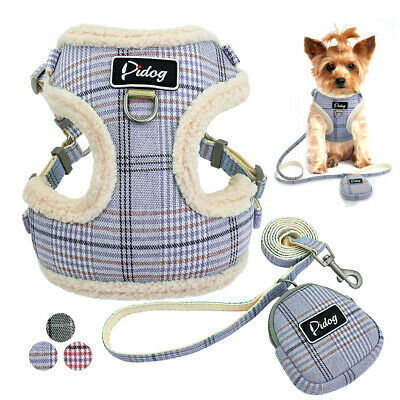 Breathable Mesh Padded Small Dog Pet Harness Leash Walk Collar Puppy Vest XS S M
