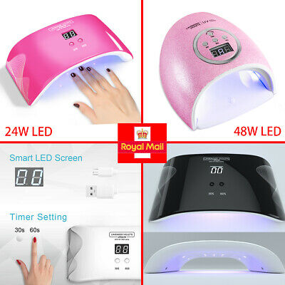 24W UV LED Nail Lamp Gel Nail Polish Dryer UV Light Fast Curing Auto Sensor
