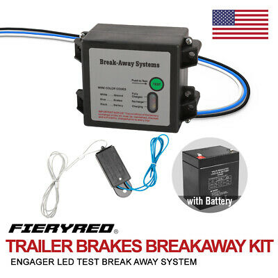 "Dumble Trailer Breakaway Switch Trailer Brake Kit with Pin Assembly and 48/"" Inch Breakaway Cable for Trailer Brakes"