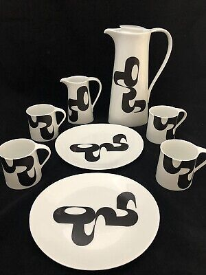 Vintage Bidasoa 'Manuel Barbadillo' Coffee Set. Rare Item. C.1962