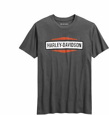HARLEY-DAVIDSON Official Men's XL Size Stacked Graphic Slim Fit T-Shirt - Grey
