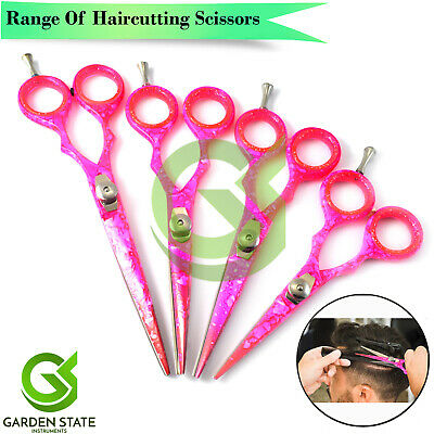 Pink Beauty Hair Cutting Scissors Barber Sharp Razor Hair Trimming Shears Set
