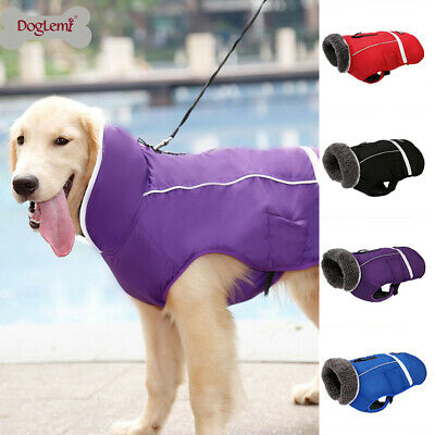 Dog Clothes Winter Waterproof Pet Dog Coat Jacket Vest Small Large Dog UK