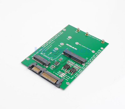 "Mini PCI-E B/M-KEY M.2 NGFF + 2.5"" mSATA SSD to SATA III 3.0 Adapter Converter"