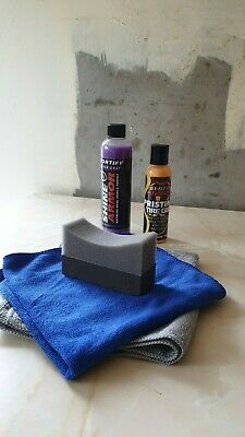Shine Armor Deal Fortify Quick Coat and Tyre Gel, with 2 Cloths Gel Pad included