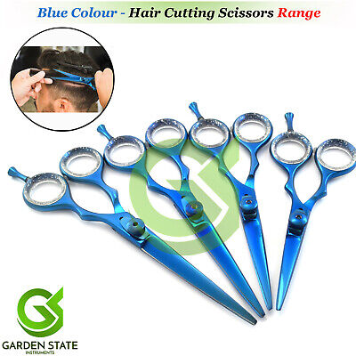 Hair Cutting Scissors Blue Color Beard Mustache Trimming Beauty Hairdressing Set