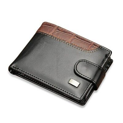 Wallet Men Leather Rfid Card Holder Blocking Slim Credit Bifold Id Genuine S Mon