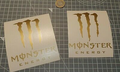 lot 2 STICKERS MONSTER ENERGY Autocollant tuning sponsor decals