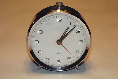 Antique Alarm Clock Mechanical Years 70 Vintage 1970 Deco Design Loft /