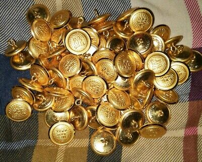 Huge lot of Gold Color VINTAGE US AIR MAIL COAT BUTTONS NOS SUPERIOR QUALITY