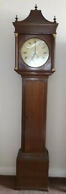 18th century oak Grandfather clock made in 1766 by Robert Skelton of Malton