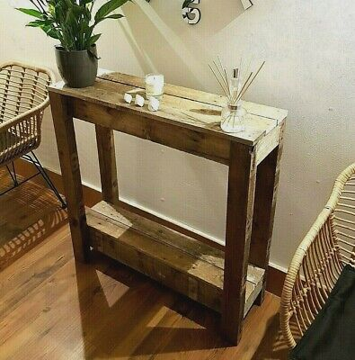 Rustic Wooden Console Table, Reclaimed Pallet, Handmade