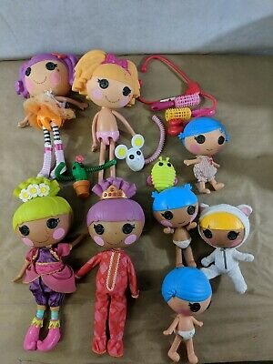 """LalaLoopsy Doll Lot of 8 12"""" & 7"""" Dolls + Pets and Accessories J2"""