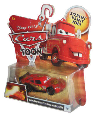 Disney Cars Toon Rescue Squad Mater Soaked Lightning McQueen Die Cast Toy Car #1