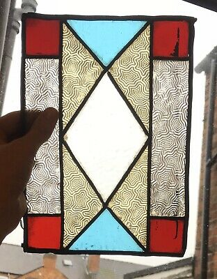 Pair Of Vintage Leaded Stained Glass Panels Antique Stained Glass