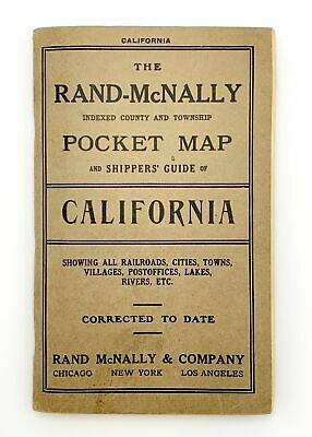 Rand-McNally Indexed County and Township Pocket Map and Shippers' Guide 1914