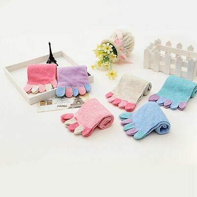 New Lady Girls Comfy Women Toe Socks Five Fingers Cotton Yoga Candy Color