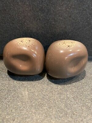 EX TAMAC Pottery MCM Frosty Fudge Salt & Pepper Shakers Perry, Oklahoma