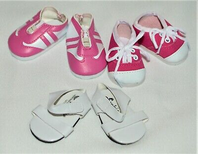 Shoes Lot of 3 Pairs For 18 in American Girl Doll Sneakers Sandals Accessories