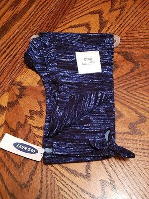 New With Tags Old Navy Girls  Blue Crop Leggings Size M (8)