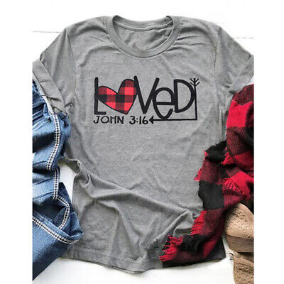 Plaid Splicing Loved Arrow Colored T-shirt Fashion Women Valentine's Day Tee Top