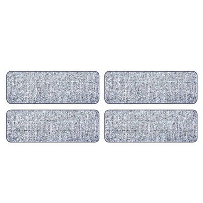 4pcs Replacement Mop Pads Microfiber Cleaning Pads for Squeeze Flat Mops