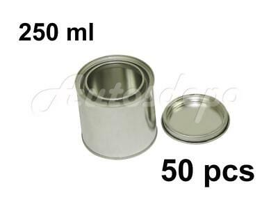 1/2 pint Size , 250 ml Empty Metal Paint Can With Lid (50 Cans and 50 Lids)